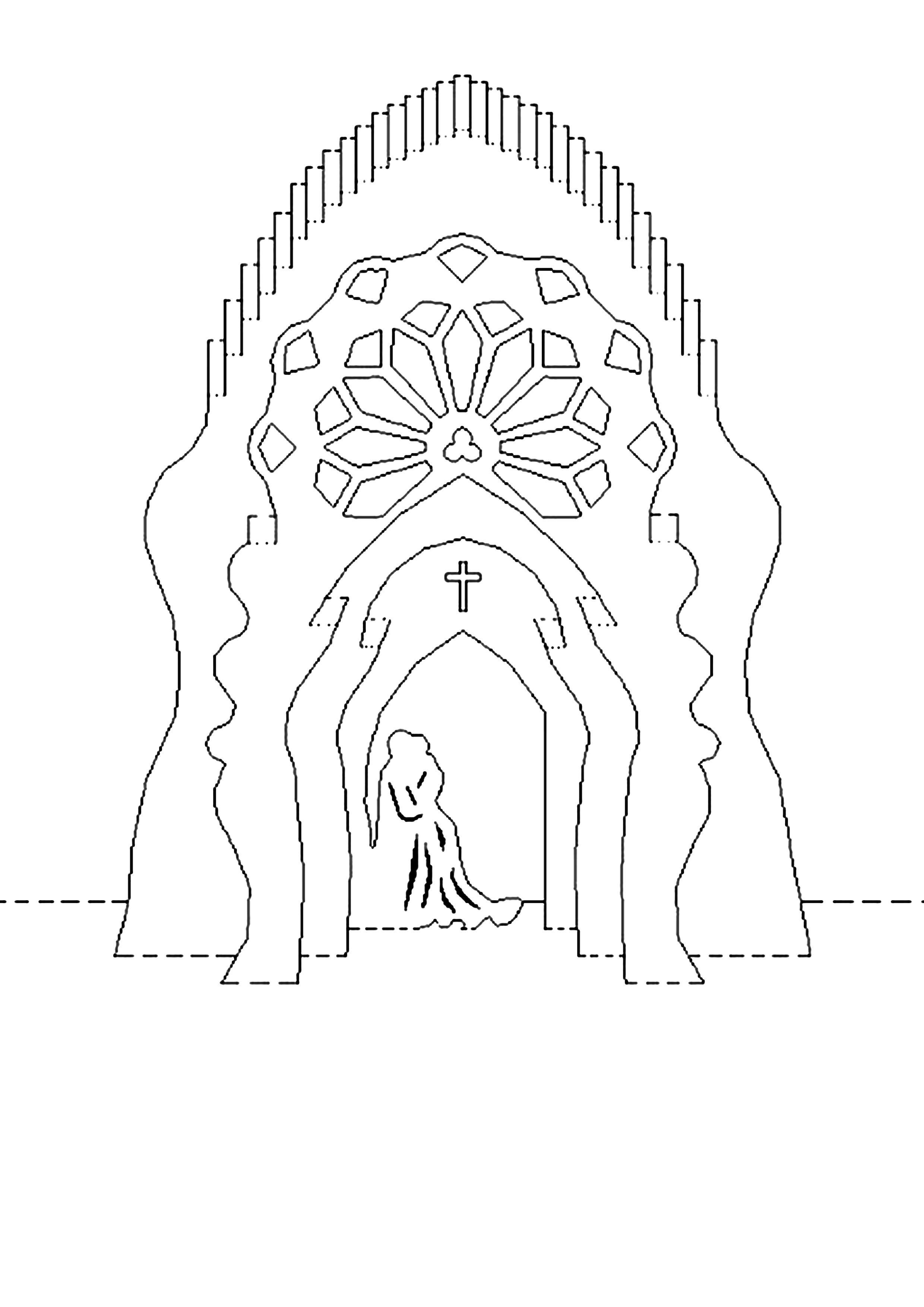алтарь | kermes | Pinterest | Kirigami plantillas, Kirigami y Tarjetas