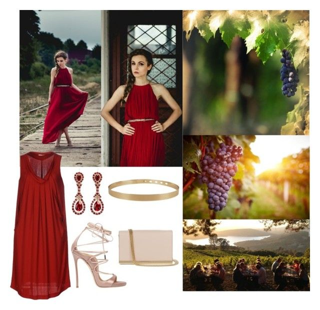 """""""Wine and Weddings"""" by anandiek ❤ liked on Polyvore featuring ROSSO35, Ally Fashion, Dsquared2, Diane Von Furstenberg, Givenchy, napa, winerywedding, bestdressedguest and vineyardwedding"""