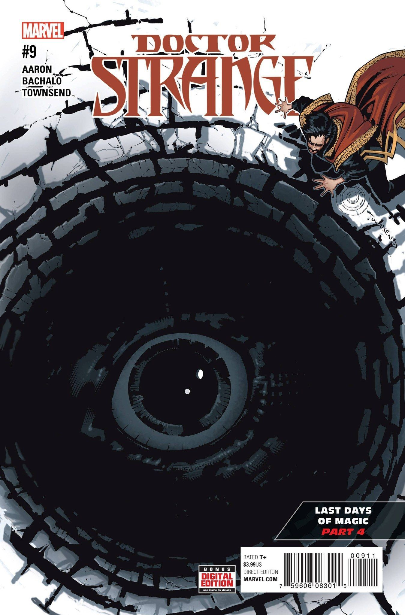 "MARVEL COMICS (W) Jason Aaron (A/CA) Chris Bachalo ""THE LAST DAYS OF MAGIC"" continues! • Stripped of all of his magic, Stephen Strange scours the globe for any weapon he can use against the Empirikul."