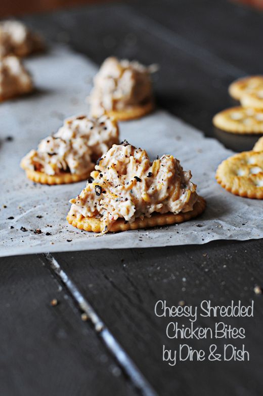 Simple Appetizer – Cheesy Shredded Chicken Bites