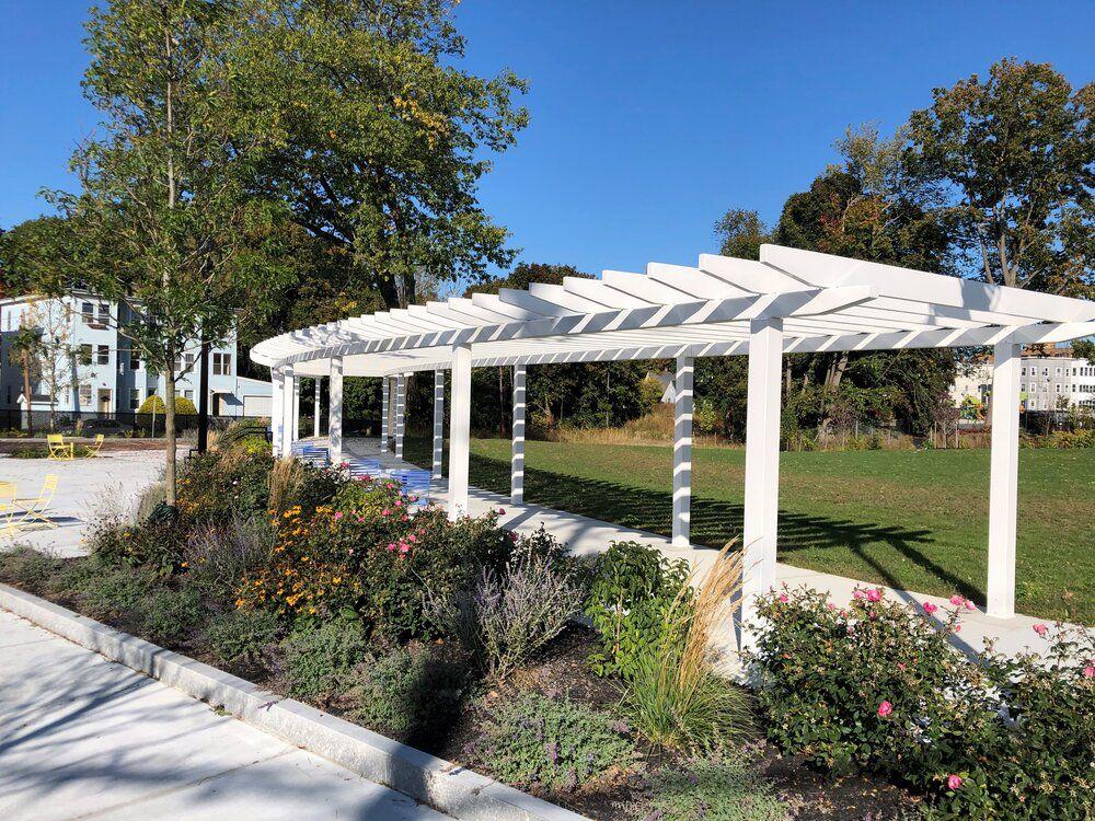 Mechanical street park leominster pergola outdoor