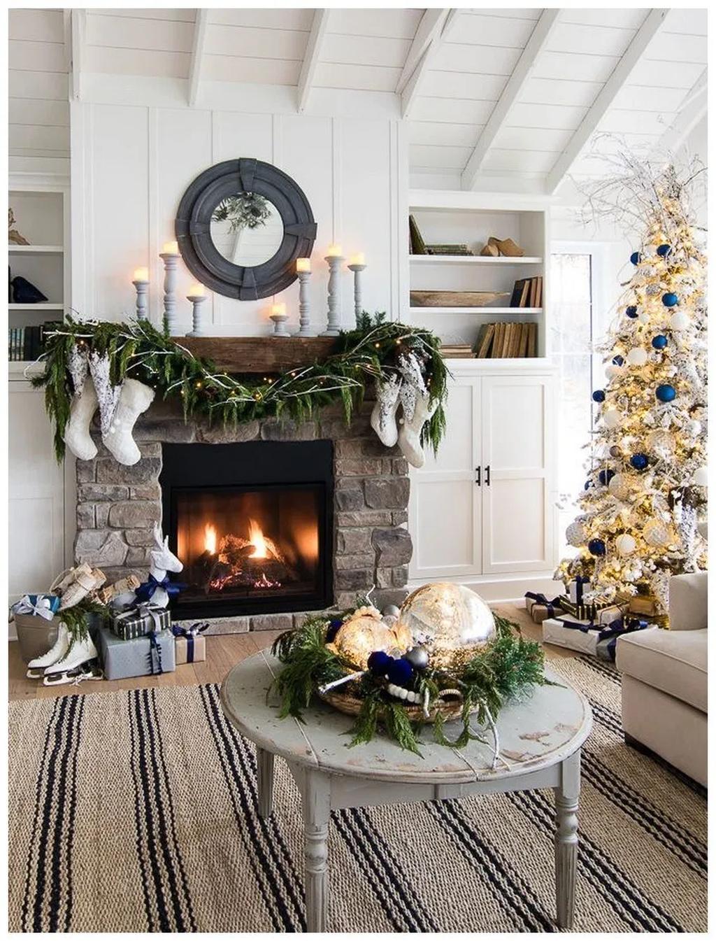 31 Fabulous Winter Fireplace Decor Ideas Best For Living ...