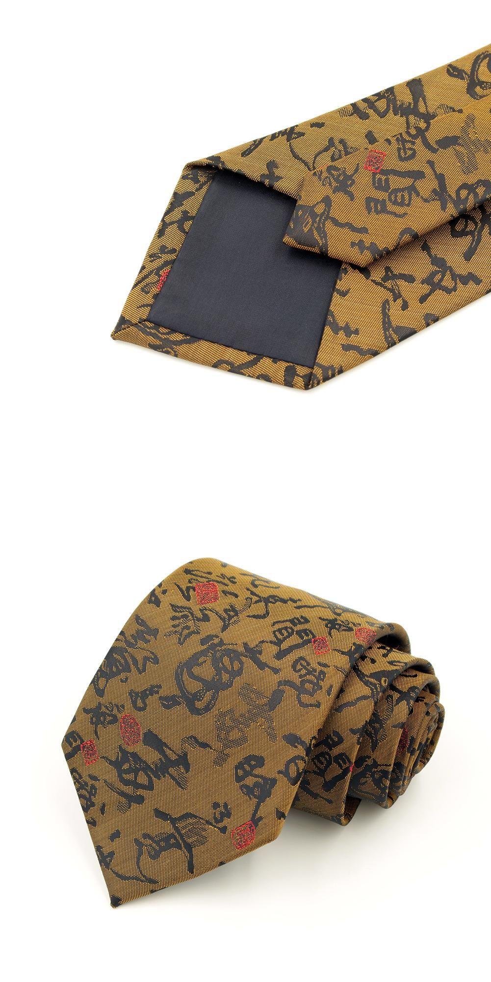 9cm Width Pringting Chinese Style Brush Handwriting