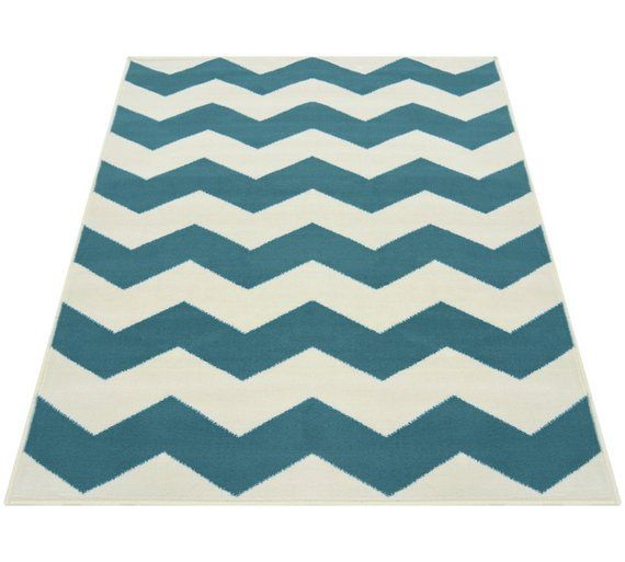 Chevron Rug 160x230cm Teal At Argos Co Uk Your Online