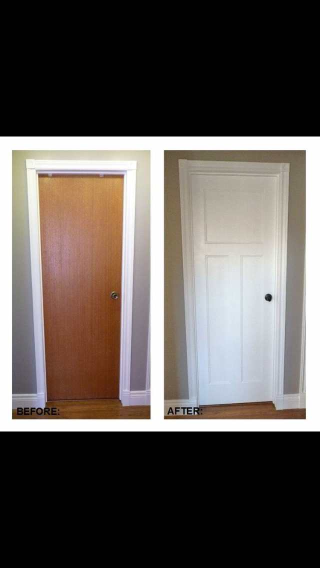 diy flat panel door dress up inspirationno flat doors