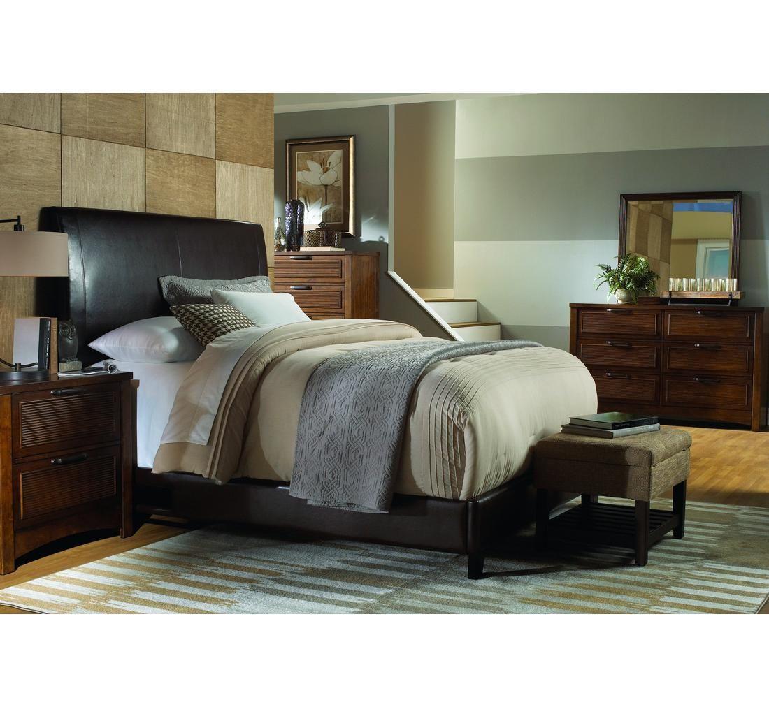 Crescent 5 pc queen upholstered bedroom badcock more