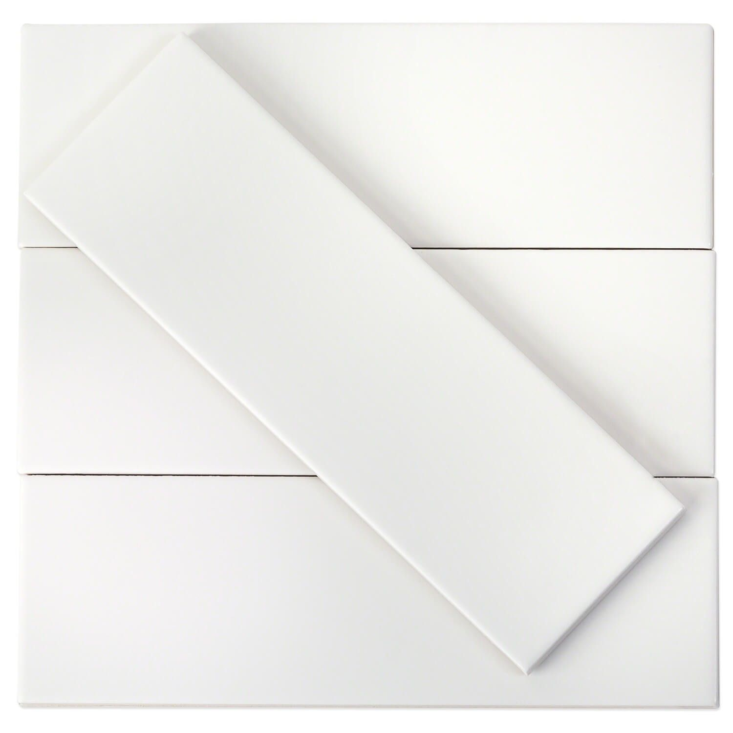 London White 3x9 Ceramic Tile Ceramic Subway Tile Matte