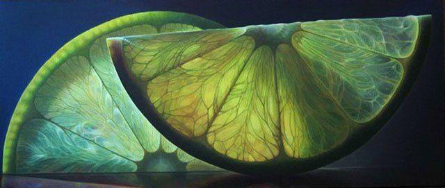 Dennis Wojtkiewicz   Translucent Fruit Paintings