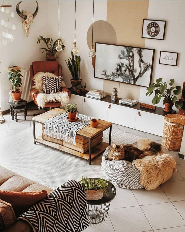 Boho Style Ideas for Bedroom Decors #appartement #bedroom #Boho #décors #idea #bohemian