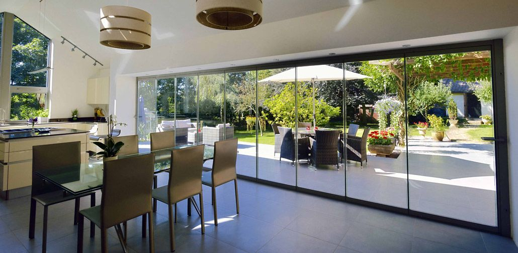 Frameless Glass Bifolding Doors Internal Entrance Doorsframeless