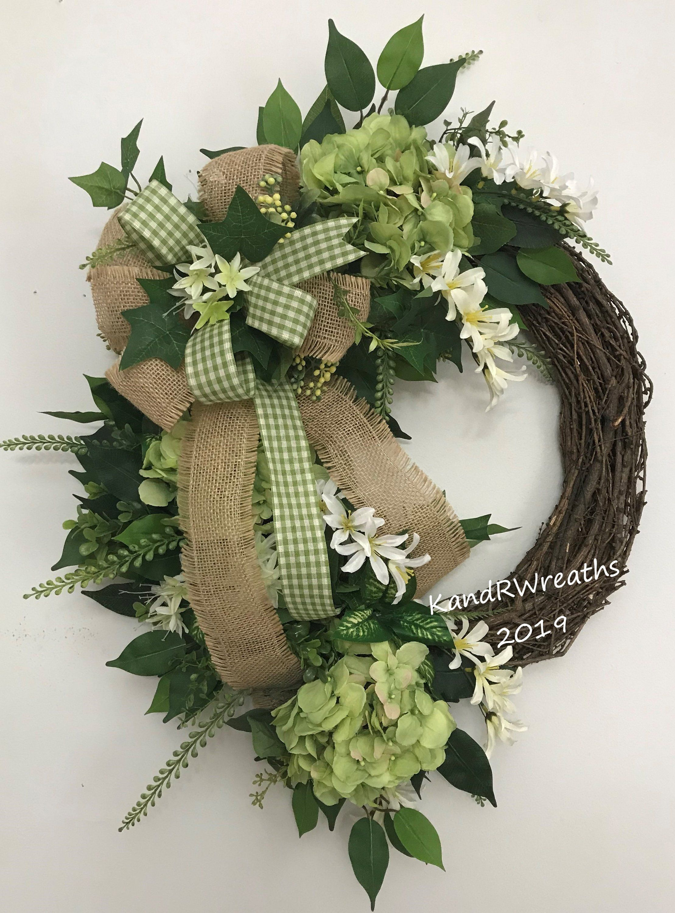 """10/"""" Hand Made Wired White Daisy on Black Ribbon Summer Wreath Bow Flower"""