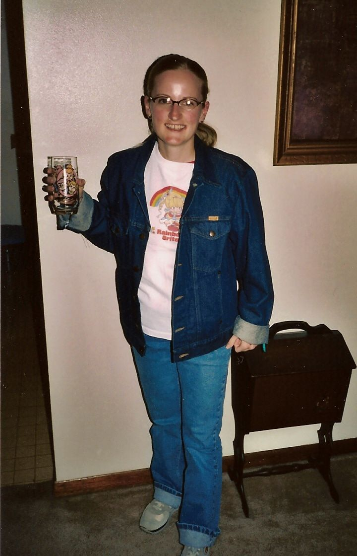 Child of the 80s - complete with authentic Shirt Tales shoes
