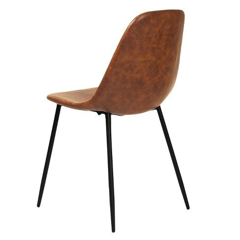 Remarkable Maxine Modern Upholstered Faux Leather Dining Chair Set Of Bralicious Painted Fabric Chair Ideas Braliciousco