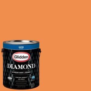Ppg Diamond 1 Gal Hdgo27u Desert Orange Satin Interior Paint With Primer Hdgo27ud 01san The Home Depot Interior Paint Ppg Diamond Paint Primer