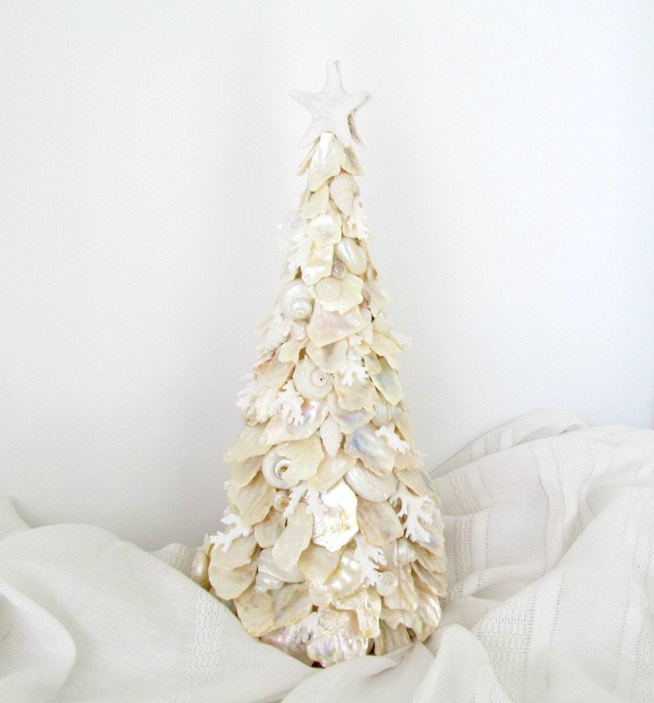 Seashell Christmas Tree Christmas Table Decor Abalone Coral