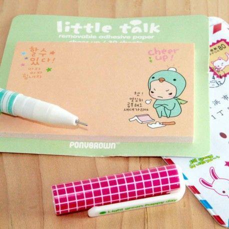 petit bloc  notes autocollantes little talk