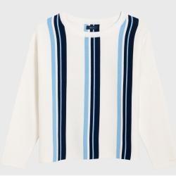 Gant Gestreifter Club Pullover (Weiß) Gant