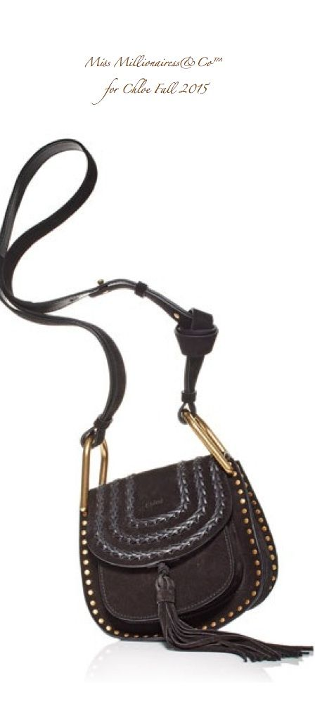 CHLOE Fall 2015 Mini Suede Studded Front Flap Closure with Adjustable Shoulder Strap in Chocolate - Miss Millionairess & Co™