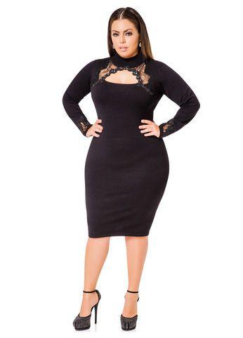 Ashley Stewart Sequin Trimmed Sweater Dress Fashionista