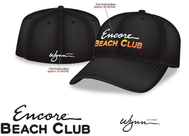 Staff Headwear Printed For Encore Beach Club At The Wynn Hotel In Las Vegas