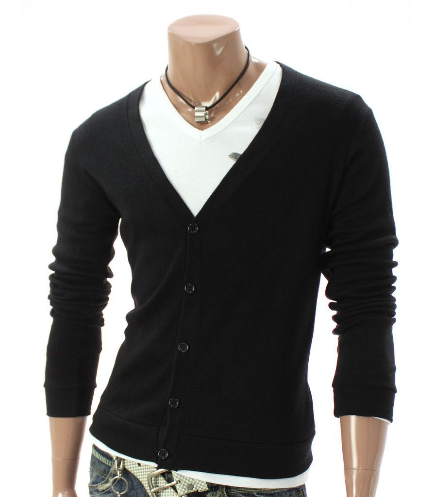 Youstars Mens Casual V-neck Button Cardigan Sweater | My Style ...