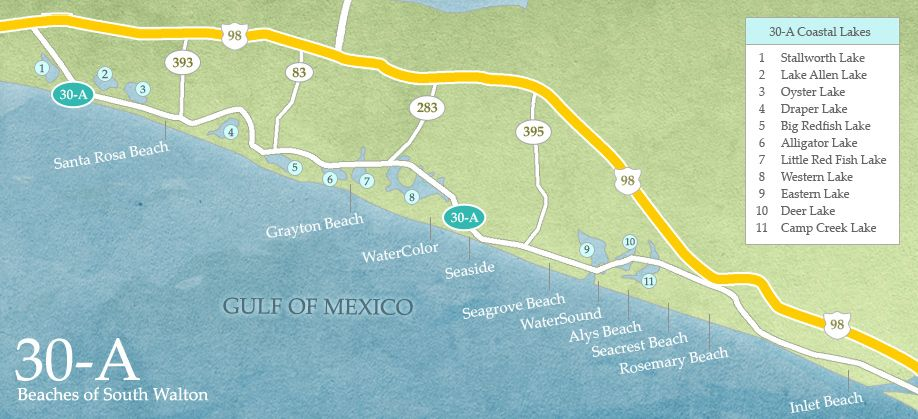 30a Map Florida Google Search