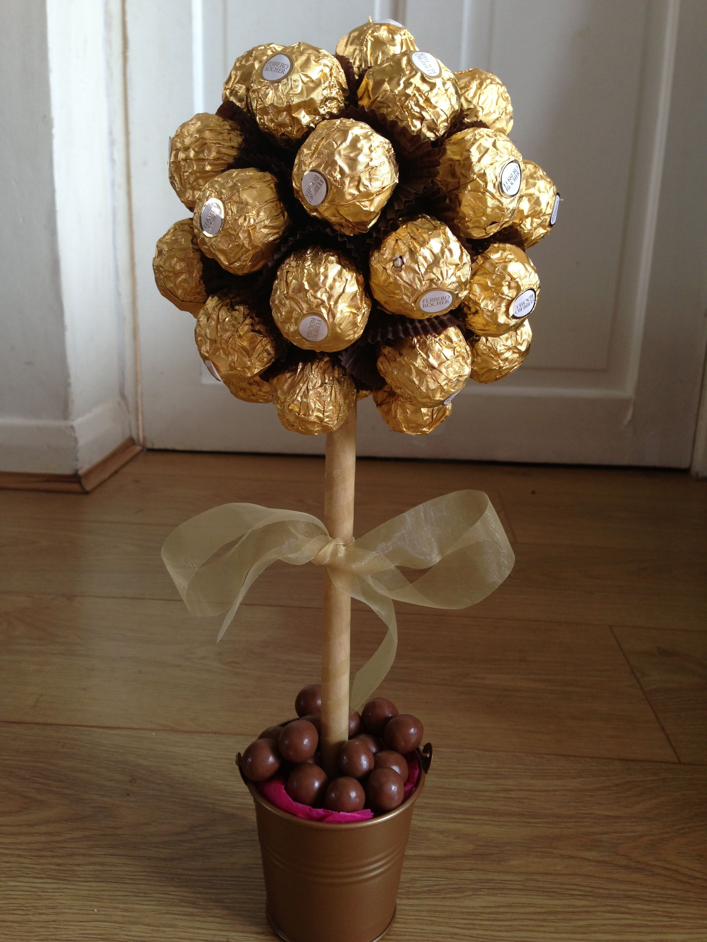 Ferrero Rocher Tree Centerpieces Decor Brown