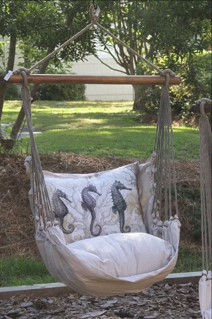 Antique Seahorse Hammock Swing Set