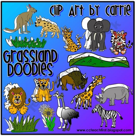 Grassland habitat doodles by clip art by carrie fun ideas grassland habitat doodles by clip art by carrie voltagebd Choice Image