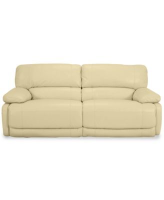 Nina Leather Dual Power Reclining Sofa | | Leather
