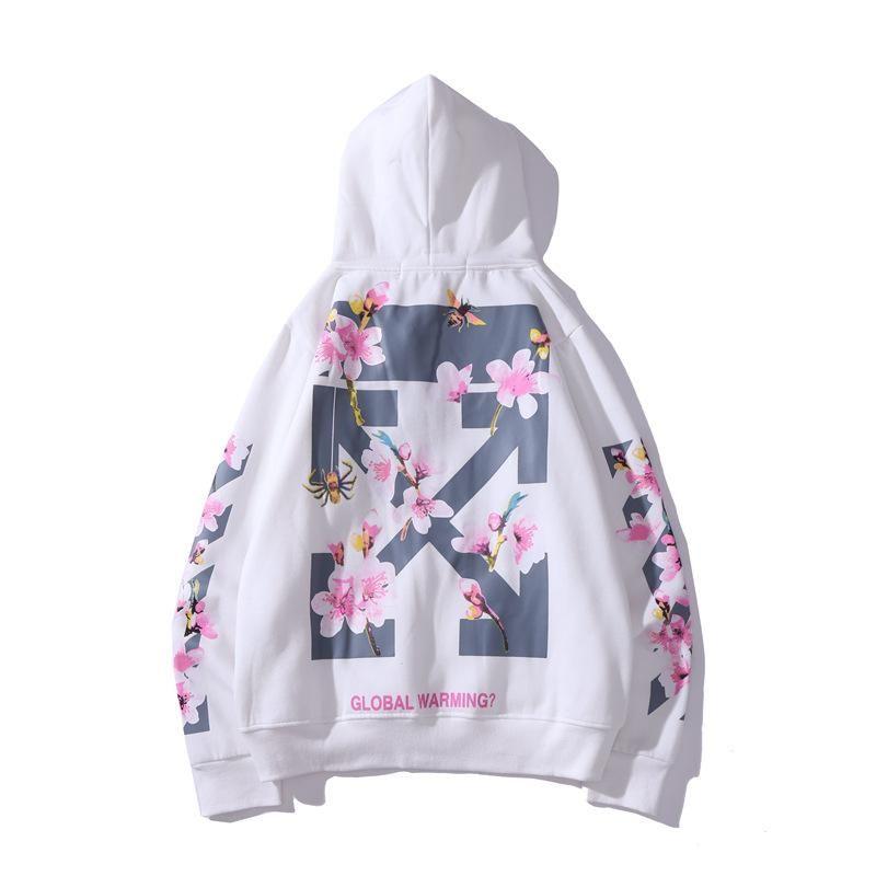 Men Cherry Blossom Print Hoodie Hoodie Print Cherry Blossom Print Hoodies