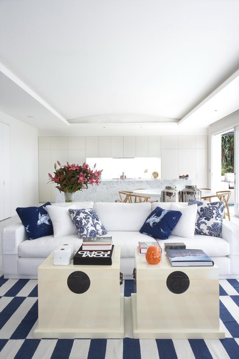 Coastal Beach House Tour Of A Classic Modern, Beach Decor, Blue And White  Coastal Home In The Hamptons. Hamptons Beach House With Classic Modern Blue  And ...
