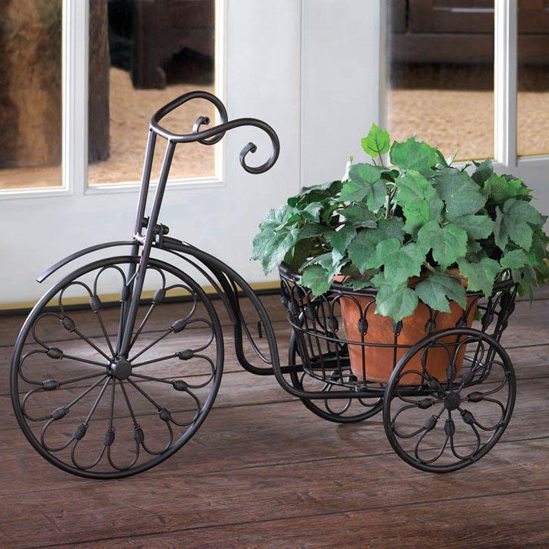 Vintage Tricycle Plant Stand Bathroom