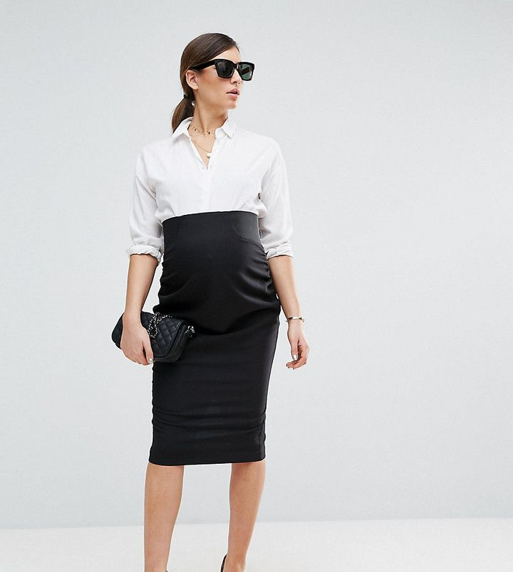 Workwear Tailored Pencil Skirt