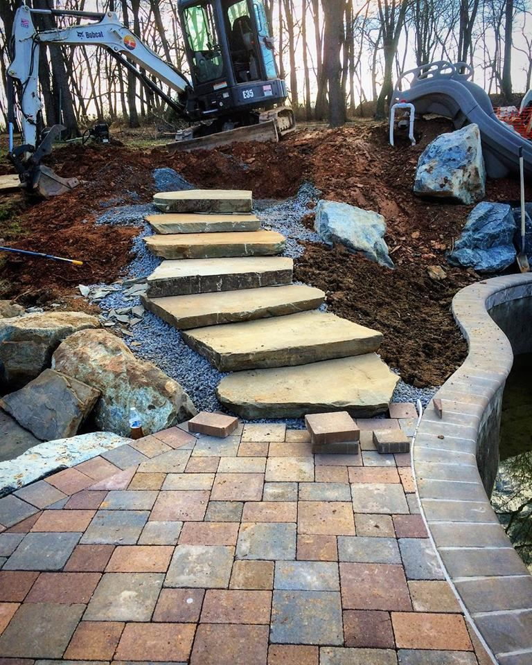 Natural stone steps looking like a snack..... 😉 (With