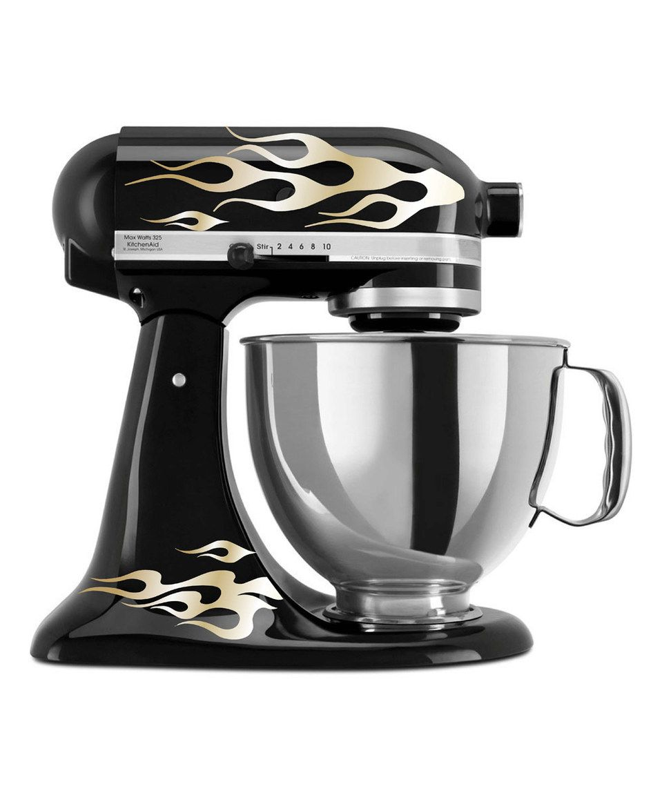 decals for your kitchen aid mixer or stand mixer metallic gold rh pinterest com