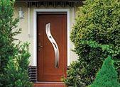 Solid wooden exterior door, equipped with anti-burglar …- …