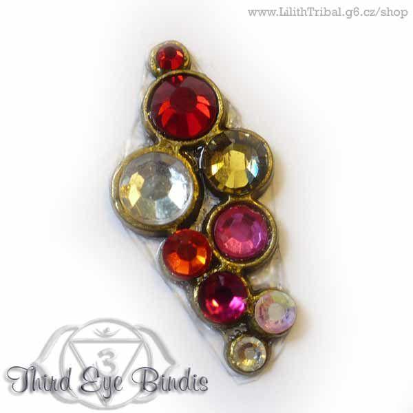 Bubbles - tribal bindi - red variant