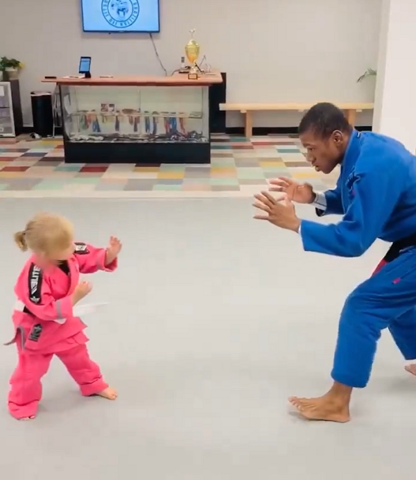 Tiny 3-Yr-Old Judo Master Takes Down Instructor In