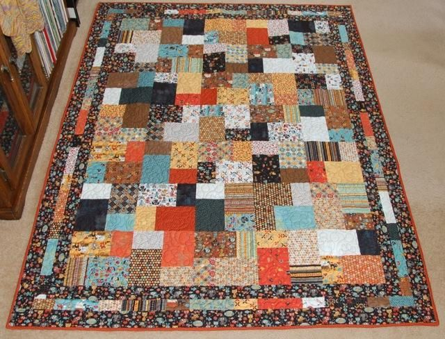 Double Slice Layer Cake quilt using Max & Whiskers fabric Quilting Pinterest Layer cake ...