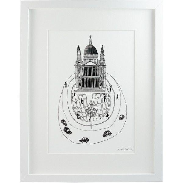 Chá com Letras - Saint Paul's Print (£19) ❤ liked on Polyvore