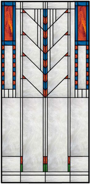 inspiring frank lloyd wright wallpaper designs. Vertical Stained Glass Window With Frank Lloyd Wright Inspired Theme M s