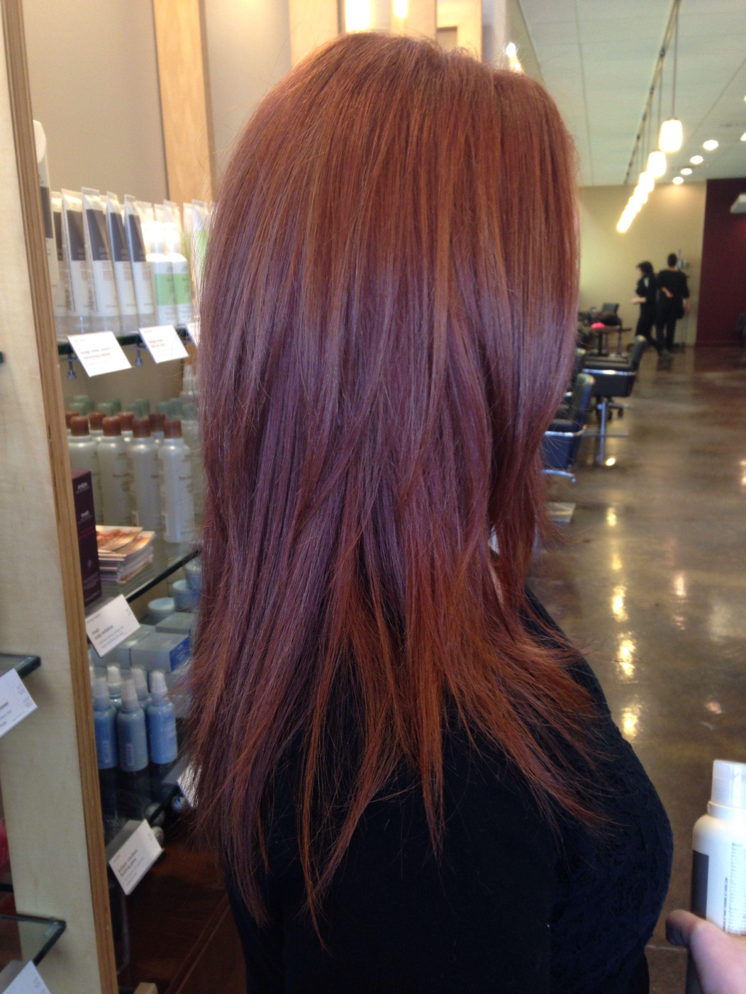 A Dimensional Copper Using Aveda Full Spectrum Permanent Color Dark Auburn Hair