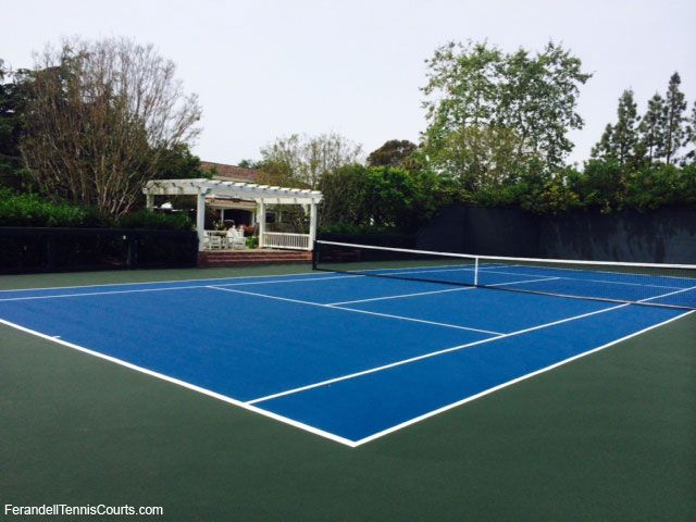 Gorgeous Private Tennis Court With Observation Gazebo Gorgeous