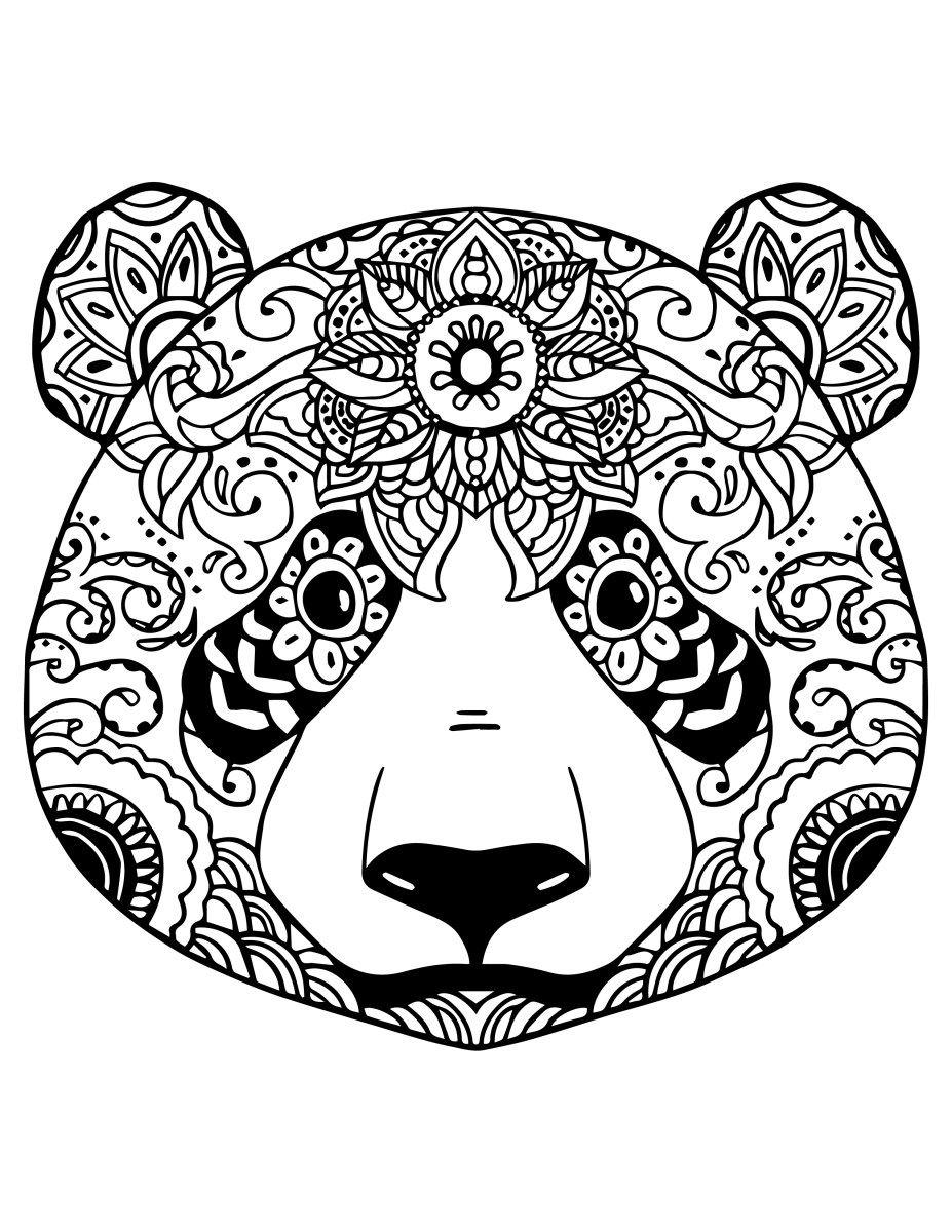 Coloriage gratuit adorable panda à colorier | Coloriage ...