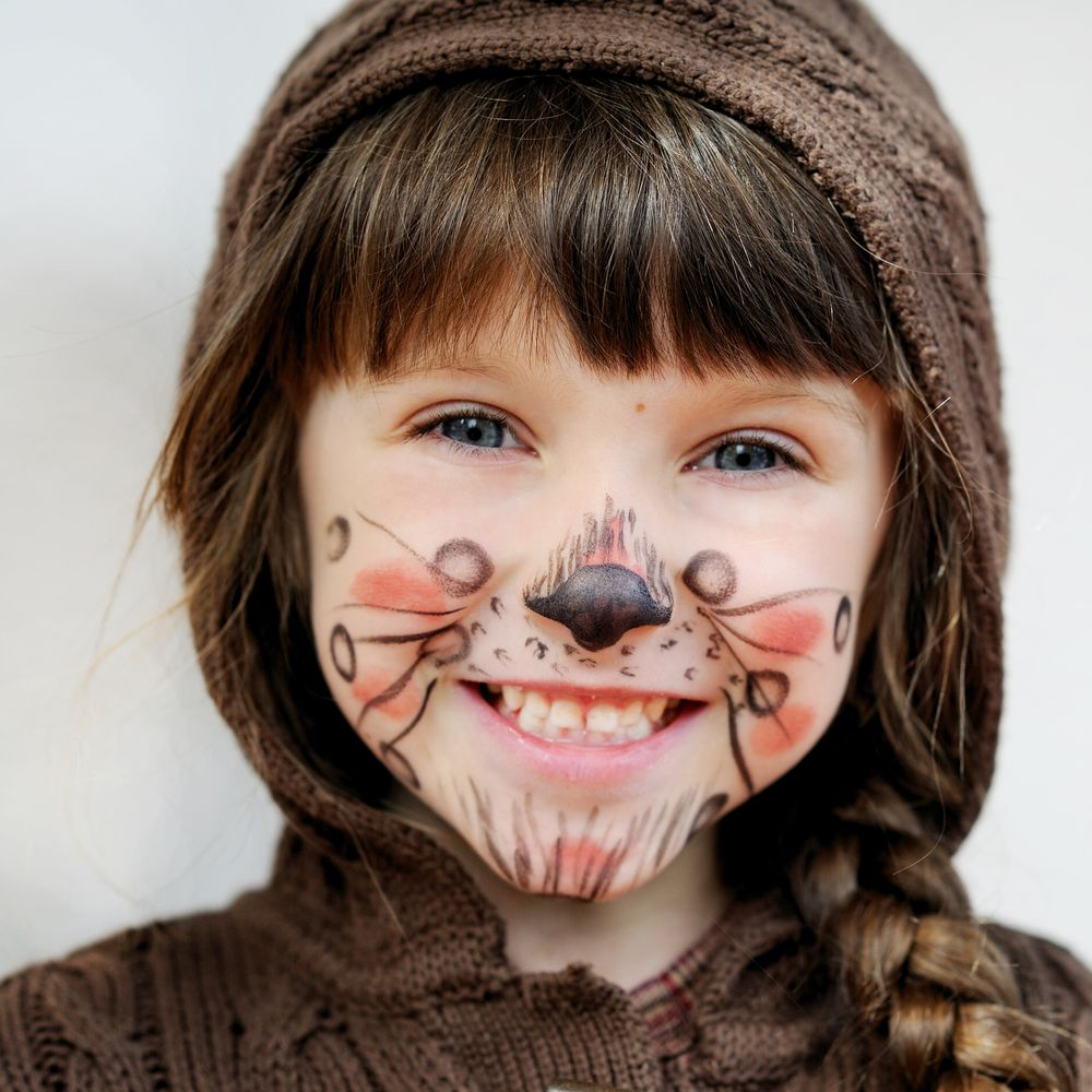 halloween face painting halloween costume facepaint cat cute creative