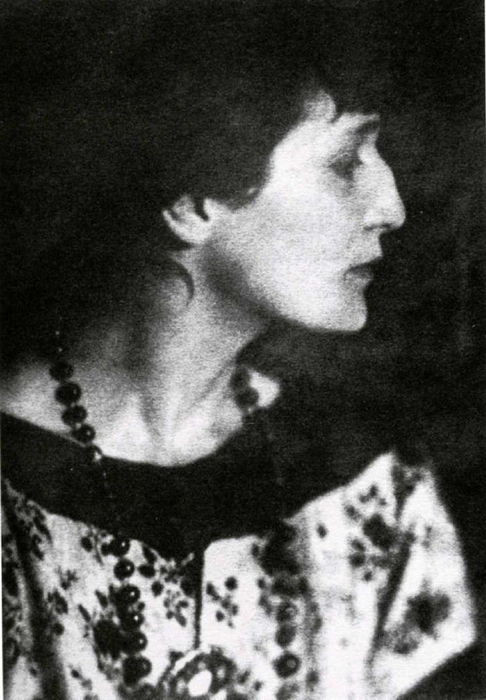Anna Akhmatova (1889-1966), considered to be one of the greatest Russian poets of the 20th century and muse to Modigliani. A lifelong friend said of her, 'She was a sparkling water sprite, an avid wanderer on foot, climbed like a cat, and swam like a fish ...'
