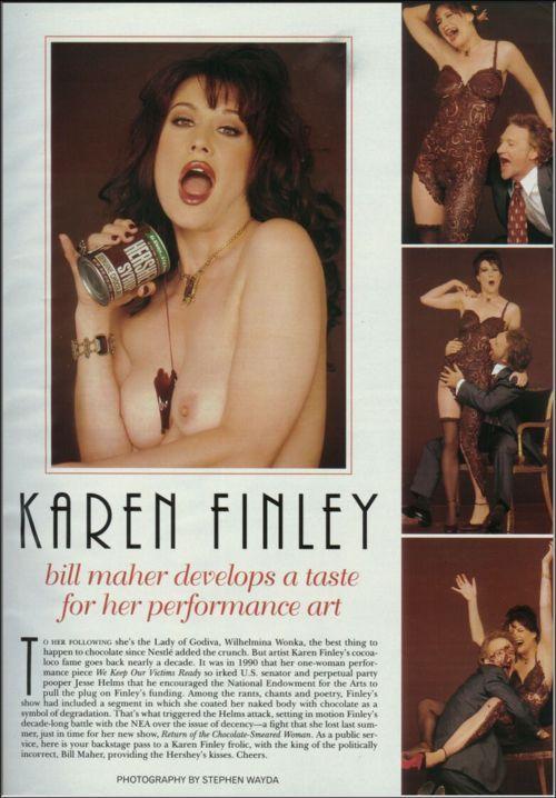 Karen Finley  nackt
