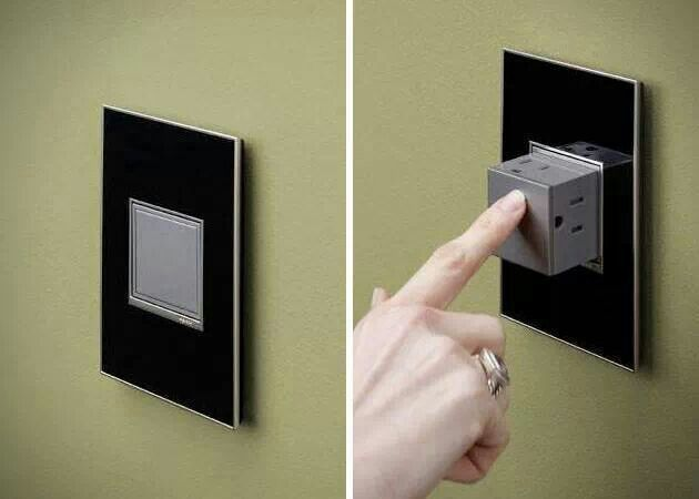 Pop out electric outlet