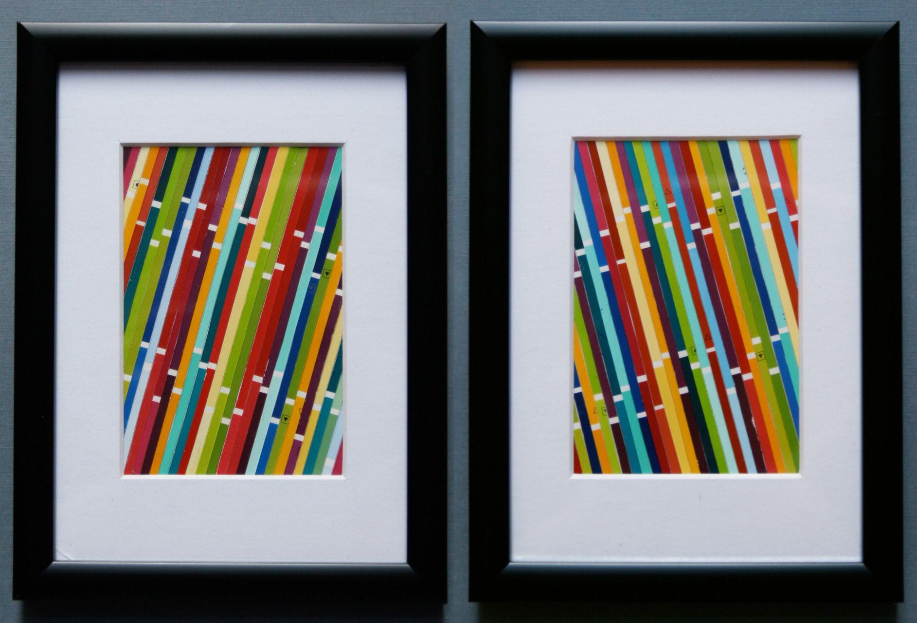 32 Paint Chip Projects | Chip art, Paint chip art and Paint chips